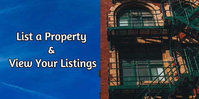 Landlords - List a property and view your listings